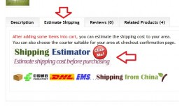 estimate shipping cost link tab