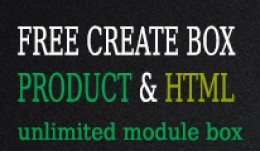 Design your products box: FREE