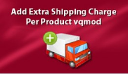 Add Extra Shipping Charge Per Product vqmod