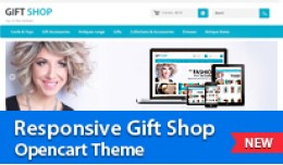 Responsive Gift Shop Opencart Theme