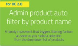 Admin autofilter by product name