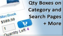 Quantity Boxes on Category and Search Pages