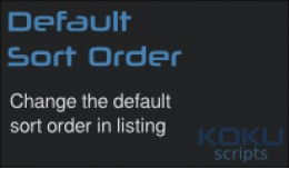 Default Sort Order