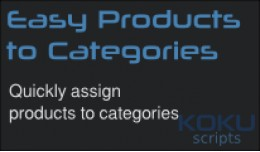 Easy Products to Categories