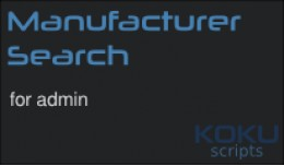 Live Manufacturer Search (admin) - VQMod