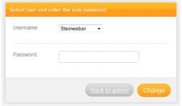 Admin Passwort Reset