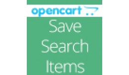 Save Search Items In Opencart Vqmod