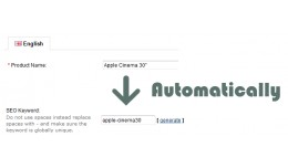 SEO Slug - Automatically - Auto fill SEO keyword..