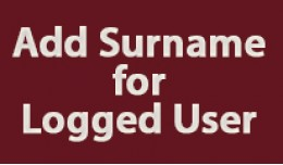 Name and Surname for Logged Users