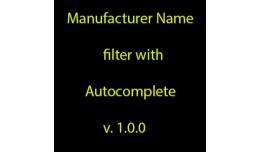 Manufacturer Name Filter with Autocomplete