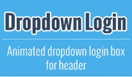 Drop-Down Login (animated)