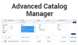 Advanced Catalog Manager