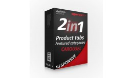 2in1 product / category responsive slider