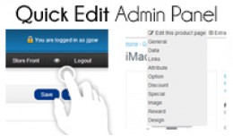 Quick Edit Admin Panel for Products, Categories...