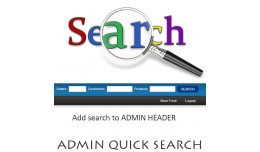 Admin Quick Search Order / Product / Customer OC..