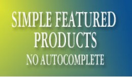 Simple Featured Products - No Autocomplete