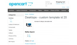 Custom templates for category and information pa..
