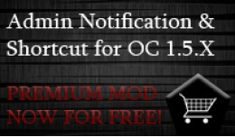 Admin Notification and Shortcut (VQMod)