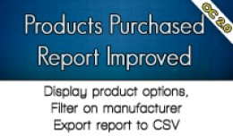 Products Purchased Report Improved (with CSV exp..
