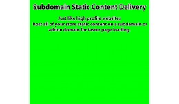 subdomain static content delivery