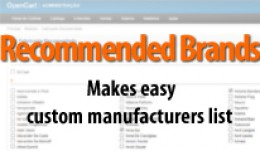 Recommended Brands, Custom manufacturers list