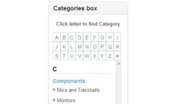 Alphabetic Category Box