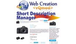 Short Description Manage - VQMOD