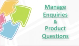 Manage Enquiries & Product Questions