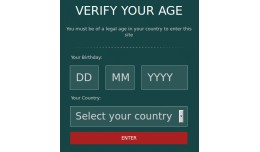 Age Verification / Country Based Age Verification