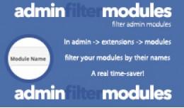 Admin Filter Modules