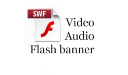 SWF object(video,audio,flash banner) on product ..