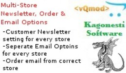 Multi-Store Newsletter, Order and Email Options