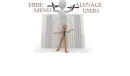 Hide Menu + User manager System