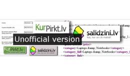 Modified ShopXML KurPirkt.lv Gudriem.lv Salidzin..