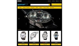 OpenCart Responsive Watches template
