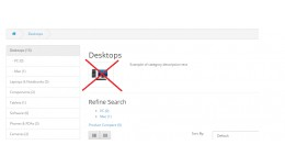 Disable subcategory image