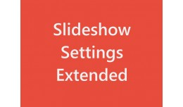 Slideshow Settings Extended
