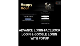 Advanced Login- Facebook login & google logi..