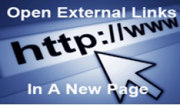 Open External Links To New Page