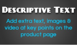 Descriptive Text - Add extra text, images & ..