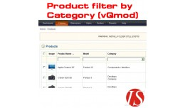 Product filter by category in admin section 1.5...