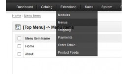 Opencart menu management v1.5