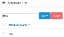 Simple admin attributes filter