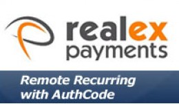 Realex Remote Recurring with Authcode and Pasref