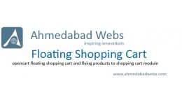 Floating Shopping Cart and Flying Product Images
