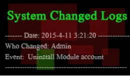 System Changed Logs- monitor admin history!