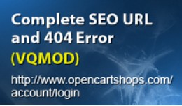TRUE SEO URLs with 404 error page vqmod