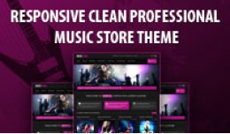 Responsive Clean Professional New Music Store Th..