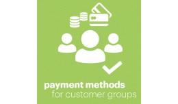 Payment method for customer groups