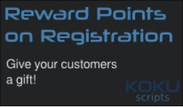 Reward Points on Registration
